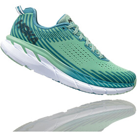 Hoka One One Clifton 5 Zapatillas running Mujer, lichen/storm blue